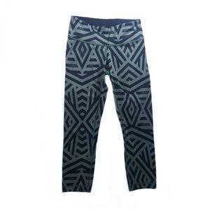 lululemon athletica Pants - Lululemon Green Black Chevron Shuffle Leggings